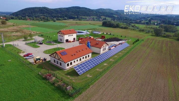 Instalacja fotowoltaiczna Eko-Solar o mocy 40kWp na terenie oczyszczalni ścieków