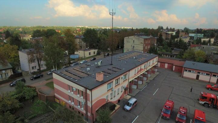 Instalacja fotwoltaiczna Eko-Solar na budynku PSP w Sosnowcu